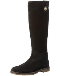 schwarze kniehohe Stiefel von Tommy Hilfiger