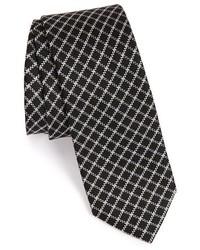 schwarze Krawatte mit Karomuster