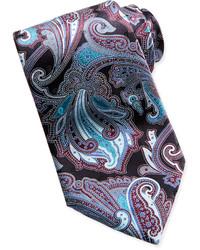 schwarze Krawatte mit Paisley-Muster