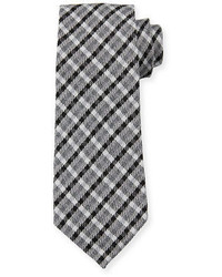 schwarze Krawatte mit Schottenmuster