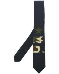 schwarze Krawatte mit Sternenmuster von Givenchy