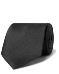 schwarze Krawatte von Alexander McQueen