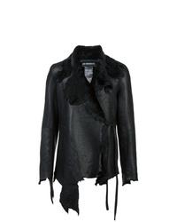 schwarze Lammfelljacke von Ann Demeulemeester