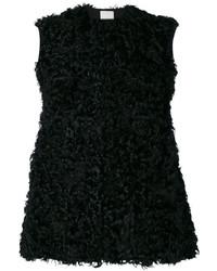 schwarze Lammfellweste von Valentino
