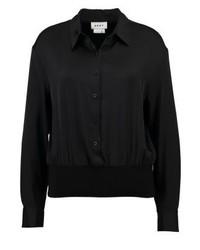 schwarze Langarmbluse von DKNY
