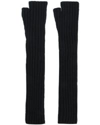 schwarze lange Handschuhe von Balmain