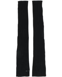 schwarze lange Handschuhe von MM6 MAISON MARGIELA