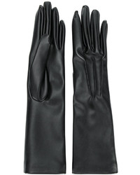 schwarze lange Handschuhe von Stella McCartney
