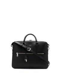 schwarze Leder Aktentasche von Dolce & Gabbana