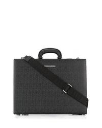 schwarze Leder Aktentasche von DSQUARED2