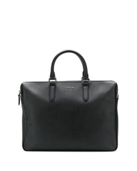 schwarze Leder Aktentasche von Ermenegildo Zegna
