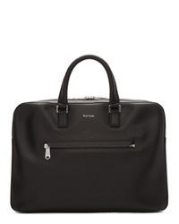 schwarze Leder Aktentasche von Paul Smith