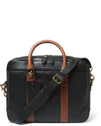 schwarze Leder Aktentasche von Polo Ralph Lauren