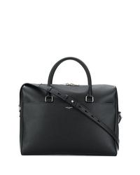 schwarze Leder Aktentasche von Saint Laurent