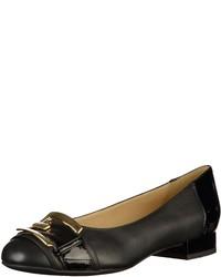 schwarze Leder Ballerinas von Geox