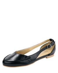 schwarze Leder Ballerinas von Heine