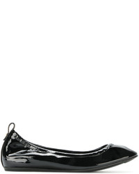 schwarze Leder Ballerinas von Lanvin