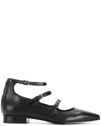schwarze Leder Ballerinas von P.A.R.O.S.H.