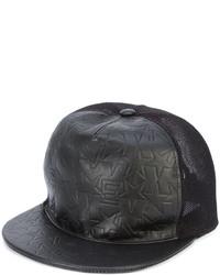 schwarze Leder Baseballkappe mit Sternenmuster von Givenchy
