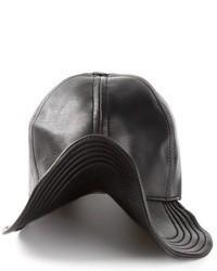 schwarze Leder Baseballkappe von Kokon To Zai