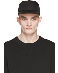 schwarze Leder Baseballkappe von Valentino