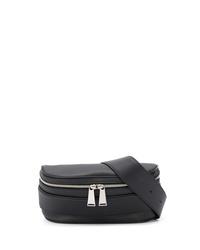 schwarze Leder Bauchtasche von Bottega Veneta