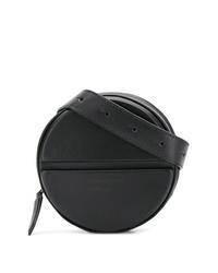 schwarze Leder Bauchtasche von Dsquared2