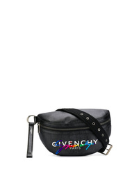 schwarze Leder Bauchtasche von Givenchy