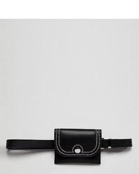 schwarze Leder Bauchtasche von Glamorous