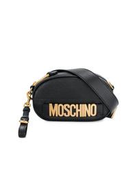 schwarze Leder Bauchtasche von Moschino