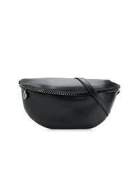 schwarze Leder Bauchtasche von Stella McCartney