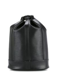schwarze Leder Beuteltasche von Louis Vuitton Vintage