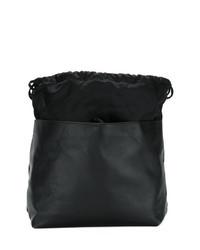 schwarze Leder Beuteltasche von Marni