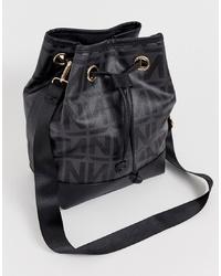 schwarze Leder Beuteltasche von NA-KD