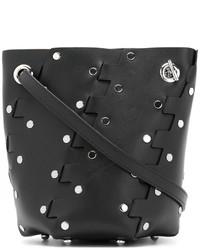 schwarze Leder Beuteltasche von Proenza Schouler