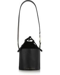 schwarze Leder Beuteltasche von Victoria Beckham