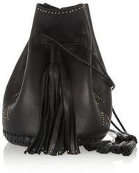 schwarze Leder Beuteltasche von Wendy Nichol