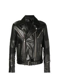schwarze Leder Bikerjacke von Balmain