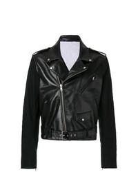 schwarze Leder Bikerjacke von Calvin Klein 205W39nyc