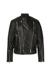 schwarze Leder Bikerjacke von Diesel Black Gold