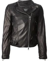 schwarze Leder Bikerjacke von Giorgio Brato