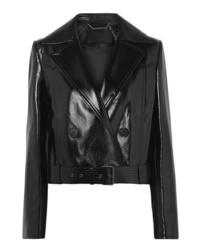 schwarze Leder Bikerjacke von Givenchy