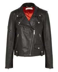 schwarze Leder Bikerjacke von Golden Goose Deluxe Brand
