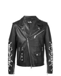 schwarze Leder Bikerjacke von Haculla