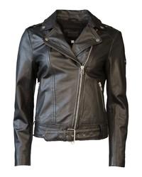 schwarze Leder Bikerjacke von JCC