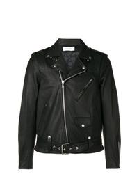 schwarze Leder Bikerjacke von John Elliott