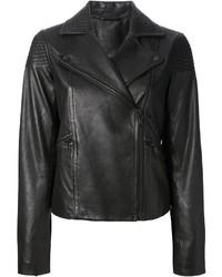 schwarze Leder Bikerjacke von Marc by Marc Jacobs