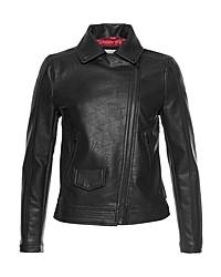 schwarze Leder Bikerjacke von Pepe Jeans