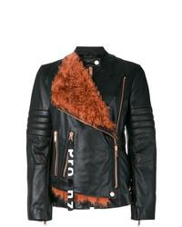 schwarze Leder Bikerjacke von Proenza Schouler