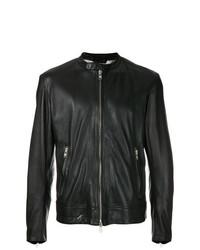 schwarze Leder Bikerjacke von S.W.O.R.D 6.6.44